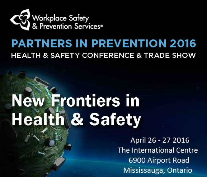"""Partners in Prevention 2016 --""""New Frontiers in Health & Safety"""""""