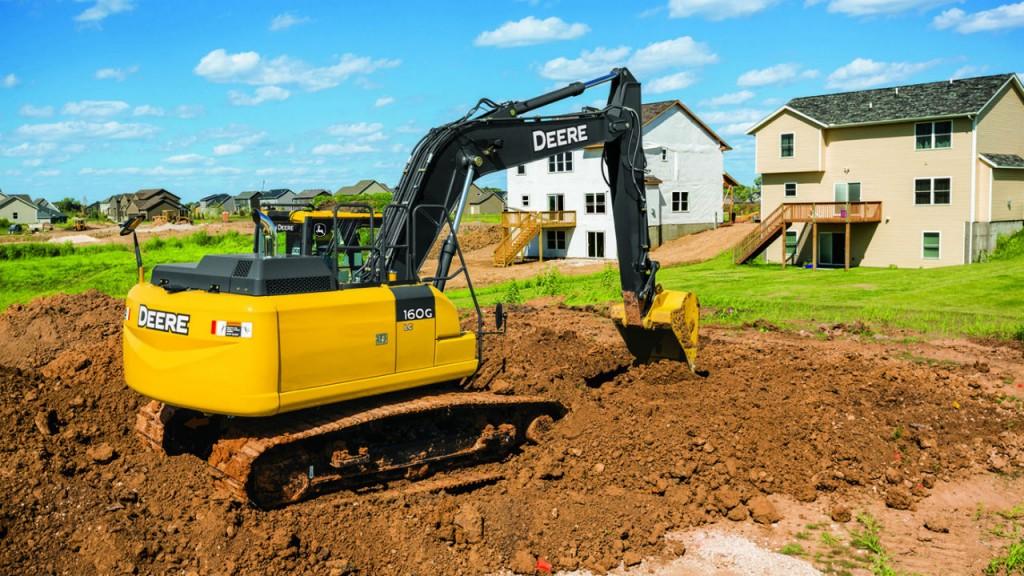 John Deere 160G LC excavator.