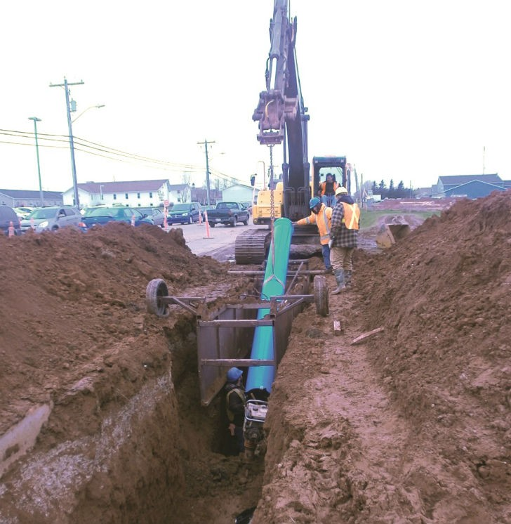 Pipe change at Prince Edward Island watermain expansion project