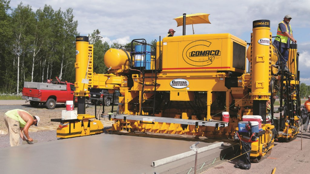 GP3 slipform paver  GT-3200 sidewalk paver and Next Generation Commander III were introduced at World of Concrete 2016.