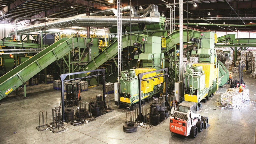 Inside Canada Fibers' Arrow Road Mega MRF, Toronto, one of the largest and most technologically advanced recovery facilities in North America.