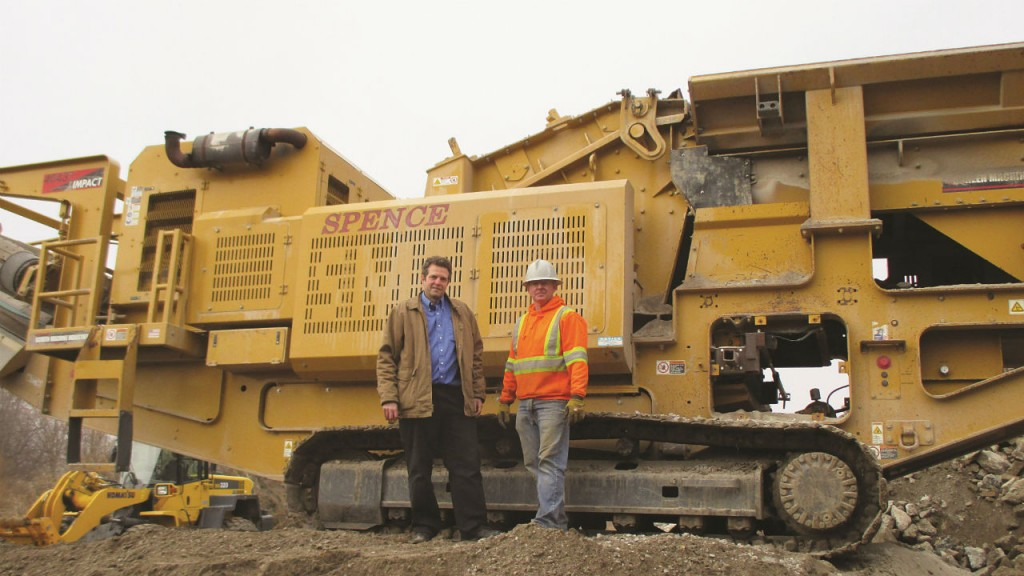 Mayfran's Greg Johnson and Pete Spence of London, Ontario-based Robert J. Spence Construction.