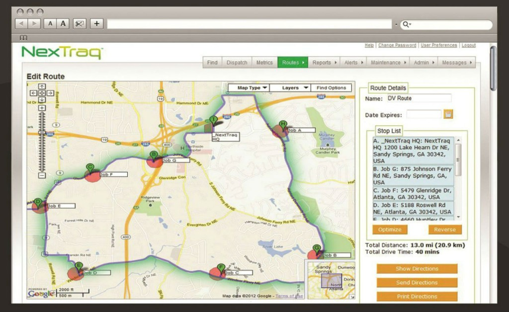 NexTraq's ClearPath optimized routing is an easy-to-use feature that takes all locations and stops in a vehicle's route and orders them to create the shortest route.