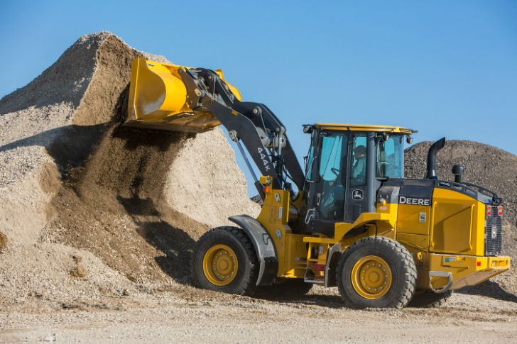 The loaders implement excavator-style hydraulics that sense the load and deliver the flow needed.