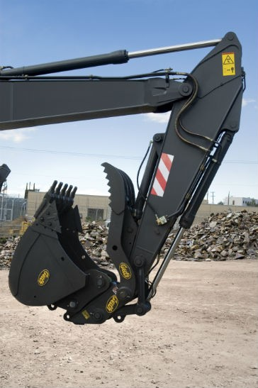 The Geith Universal Easi-Klamp Hydraulic Thumb provides an economical, easy to install, solution to your hydraulic thumb applications.