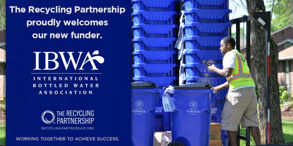 The Recycling Partnership welcomes International Bottled Water Association.