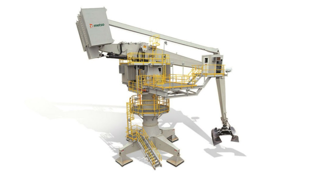Metso MBC 95/29 balance crane has been designed for optimum safety, durability, and reduced maintenance costs.