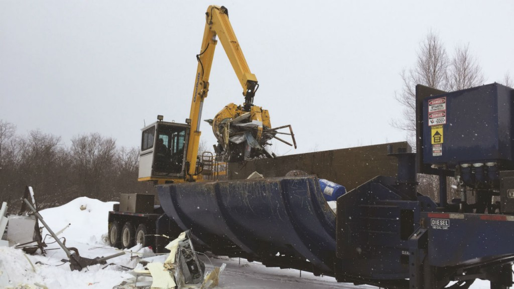 Overbuilt baler/loggers and car crushers key to mobile recycling in New Brunswick
