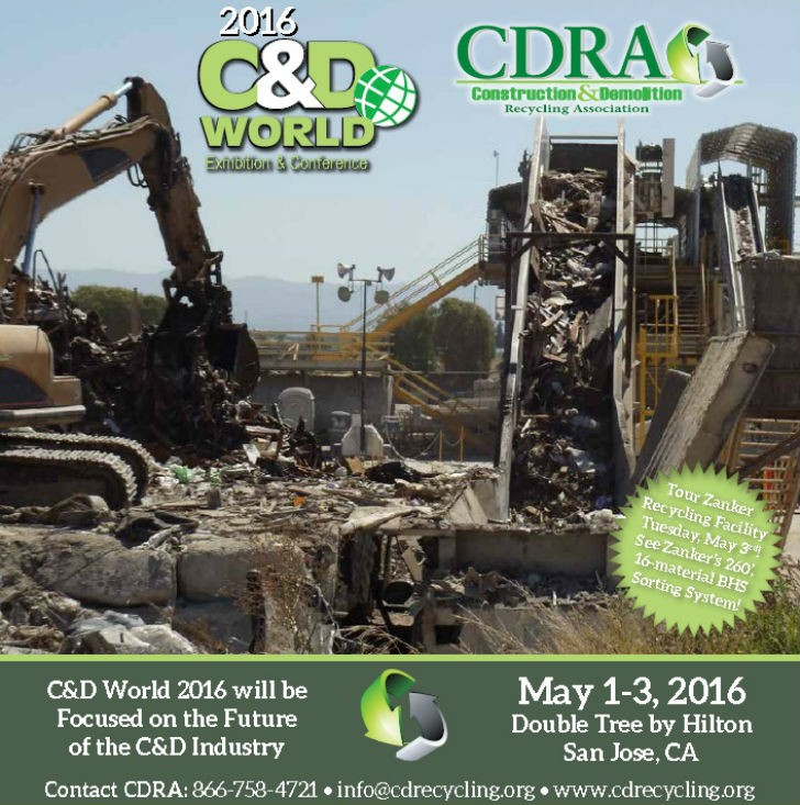 C&D World 2016 to include Zanker Recycling tour