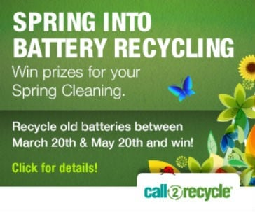 Call2Recycle Canada's Spring Cleaning campaign provides incentive for battery recycling