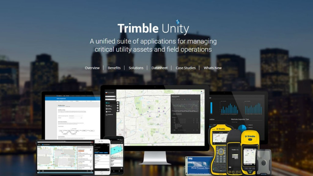 Trimble Unity is a GIS-Centric Cloud and Mobile Software, offering a suite of applications and tools to support smart water management.