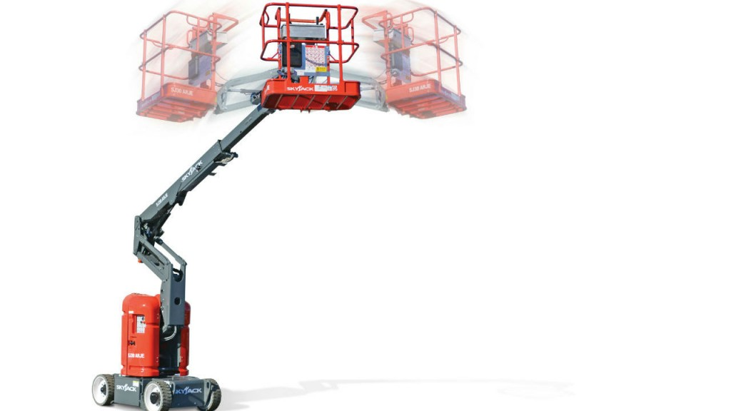 The SJ30 ARJE articulating boom is Skyjack's first electric boom.