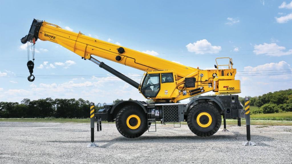 The Manitowoc GRT8100 Grove rough-terrain crane debuted at bauma 2016.