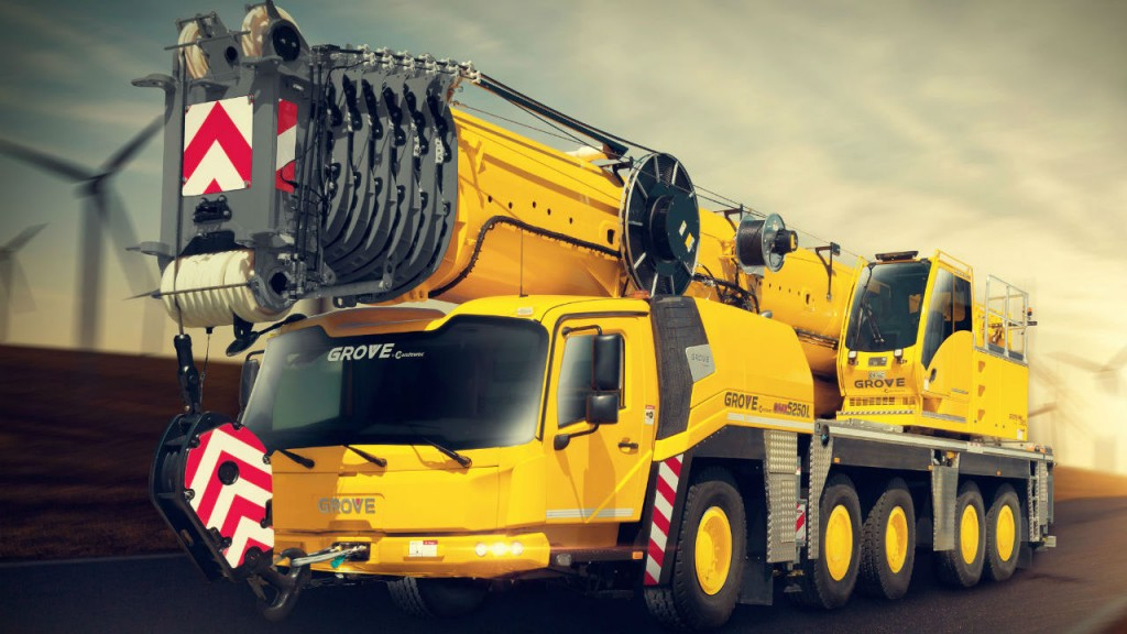 GMK5150L Grove all-terrain cranes is ideal for tower crane assembly or other applications where strength at height is required.