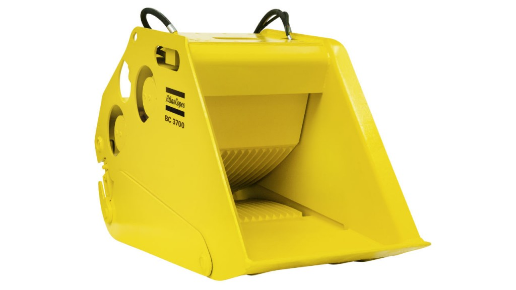 Atlas Copco launches its new generation of hydraulic bucket-crusher attachments during Bauma 2016. The new units process as much as 110 tons per hour and fit 49,000- to 85,200-pound carriers.