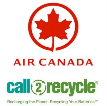 Air Canada's battery recycling program up and flying