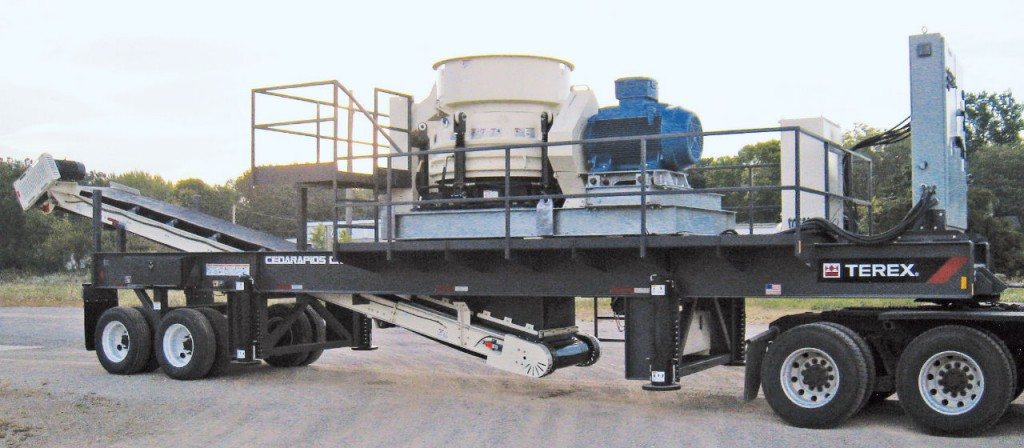 Terex Cedarapids CRC1150 portable cone plant.