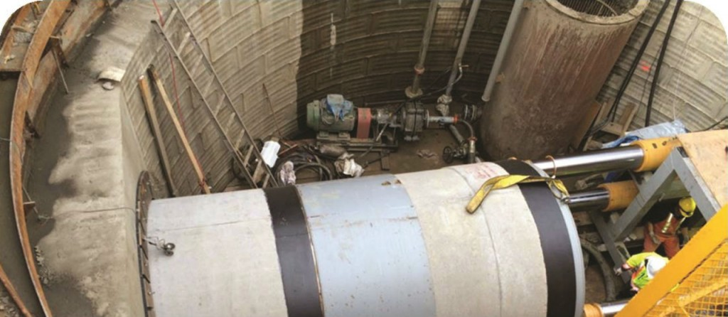 The design of the SA1a truck sewer required trenchless construction in three stages, including a 262-m drive underneath the Anthony Henday ring road.