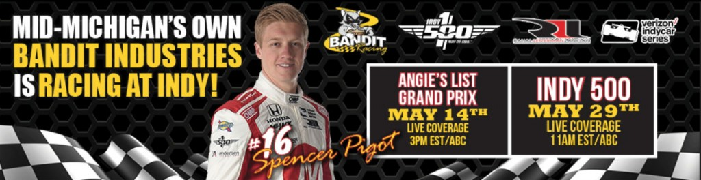 Bandit Industries is sponsoring Rahal Letterman Lanigan Racing's Spencer Pigot to race in 2016 Indy Grand Prix and Indy 500.