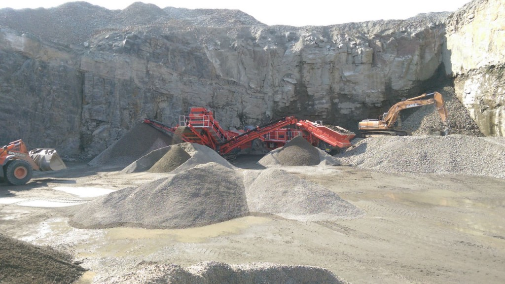 Terex Finlay C-1540 cone crusher & 674  inclined screener.