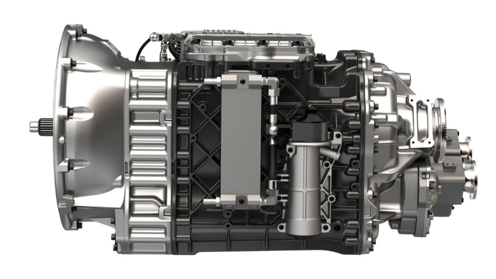 The Mack mDRIVE HD 13-speed automated manual transmission (AMT) is standard on Mack Granite models.