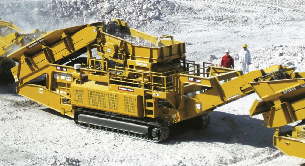 The CST Cone Crusher is a large track-mounted portable crusher plant designed for secondary crushing of hard rock.