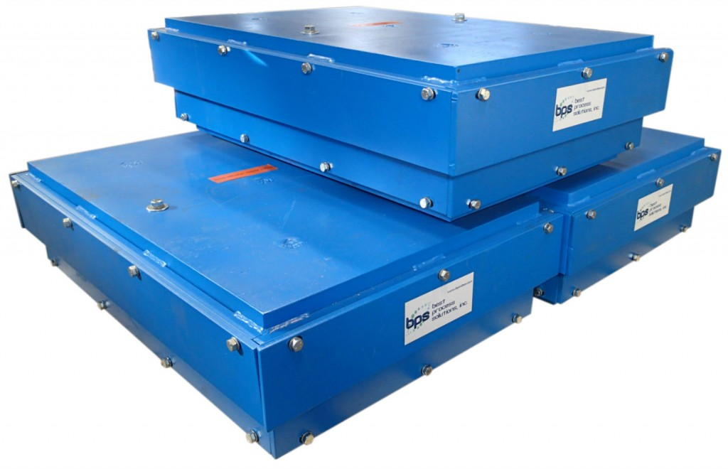 Shredder isolation mounts from Best Process Solutions.