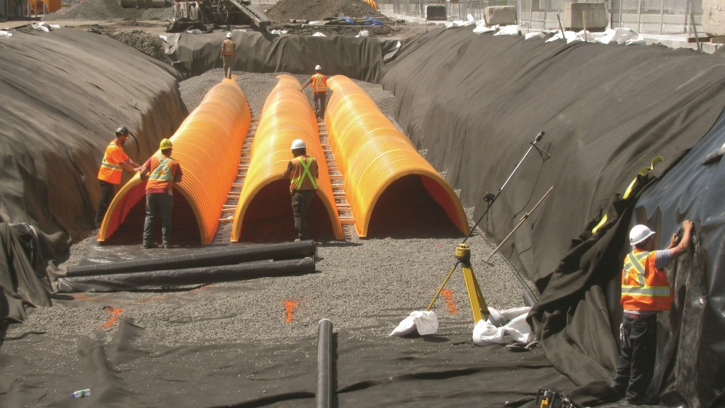 The storm water control systems for the Centre were designed by SNC-Lavalin.