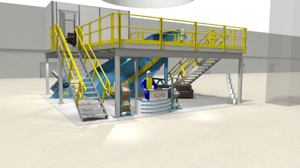 CP Group will exhibit a booth made entirely of material recovery facility equipment and infrastructure at Waste Expo in Las Vegas, Nevada.