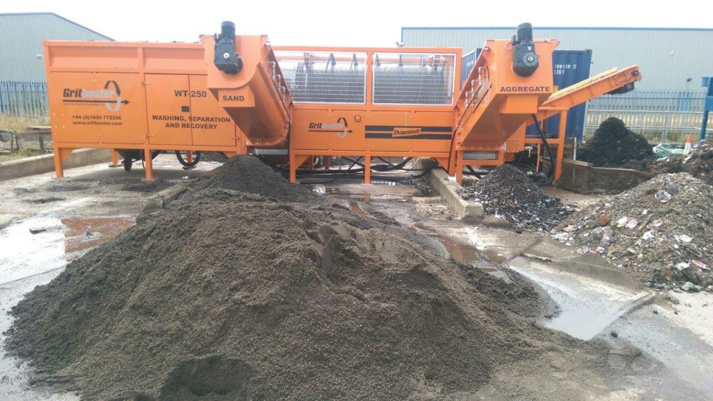 Gritbuster WT-250 road sweepings recycling system