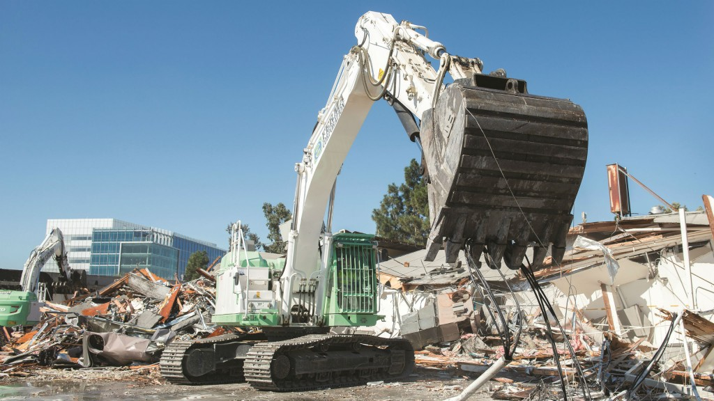 Volvo EC350EL fleet of 20 excavators specially modified for demolition