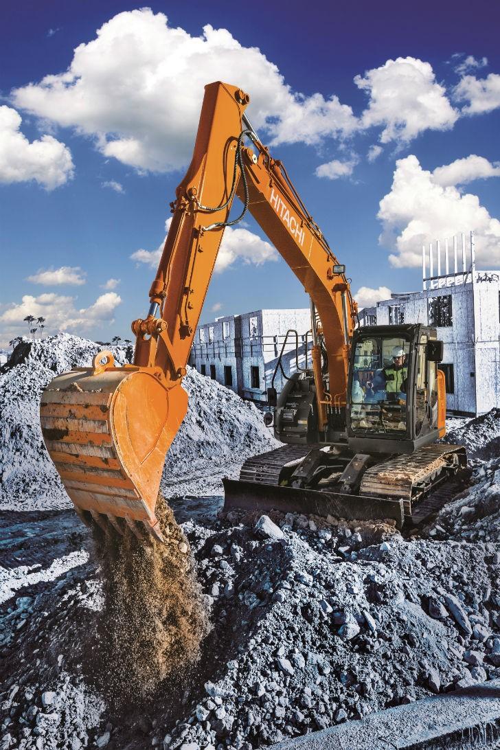 Hitachi ZX135US-6 and ZX245USLC-6 ultrashort excavators offer big