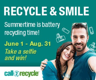 Call2Recycle announces 2016 Recycle & Smile Campaign