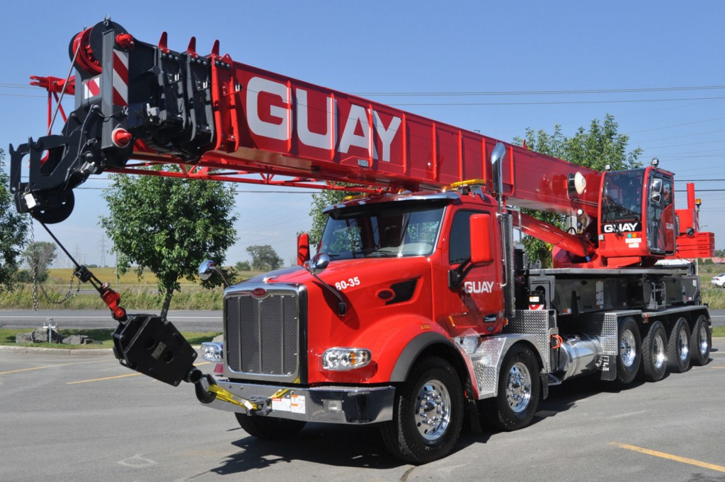 Guay selected the Terex Crossover 8000 because of the unit's versatility and ability to travel over-the-road.