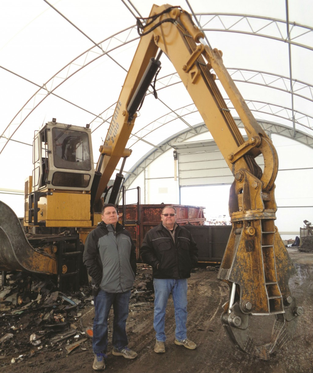 The McDonald brothers of Bodyline Auto Recyclers, Hamilton, Ontario.