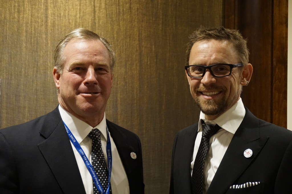 ISRI chair, Mark Lewon and CARI's newly appointed chair, Dan Klufas.