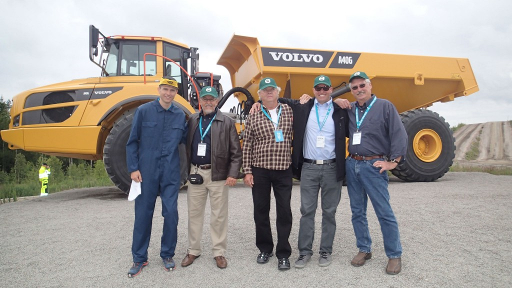 """Tomy Stenvall of Amswede Corporation in Chula Vista, California is the winner for the Volvo """"Still Hauling"""" contest with a 1968 Volvo DR860 hauler."""