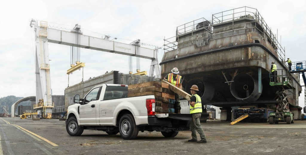 Every Super Duty pickup truck include an all-new, fully boxed frame that is more than 95 percent high-strength steel and up to 24 times stiffer than the previous frame to support increased towing and hauling.