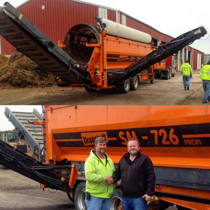 Compost Supply acquired a Doppstadt SM 726 trommel screen to expand their capacity.