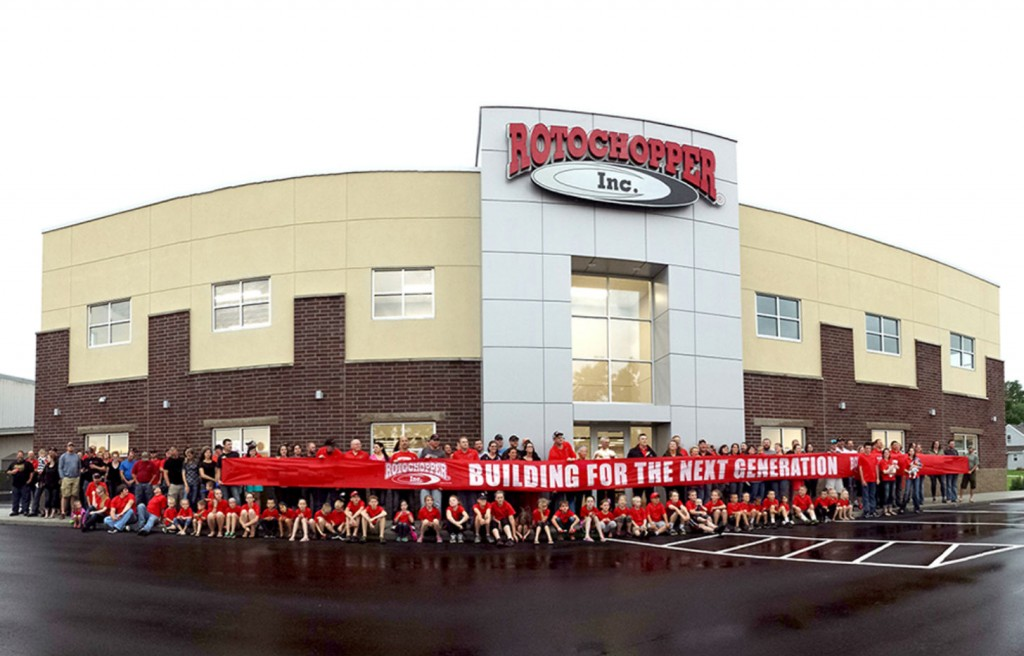 Rotochopper, Inc. celebrated another milestone in June of 2016: the completion of their new corporate office addition.