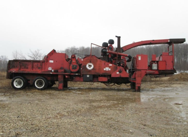 Morbark-50-48 drum chipper before remanufacturing