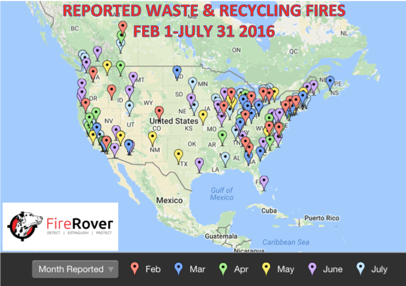 150 facility fires reported in the waste & recycling industry in six months