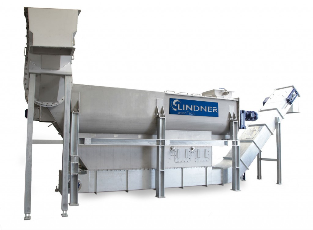 As a washing system for pre-shredded highly contaminated post-consumer plastic waste, the new Rafter takes its place in the recycling line between the Micromat WS wet shredder and a downstream Loop Dryer. All three systems form part of the new washing machine concept for plastics presented by the Austrian Lindner Group.