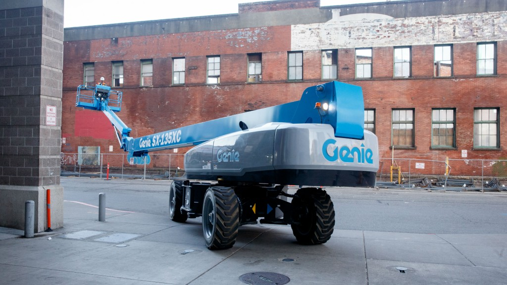 The Genie SX-135XC self-propelled telescopic boom lift is ideal for the most extreme access jobs with a working height of 141 ft (43.15 m) and a horizontal reach of 90 ft (27.43 m).