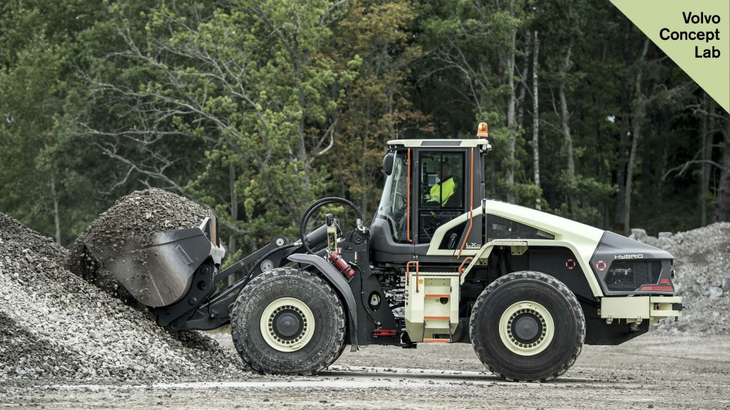 Volvo Construction Equipment unveiled its prototype hybrid wheel loader known as the LX1 at the Xploration Forum in Eskilstuna, Sweden.
