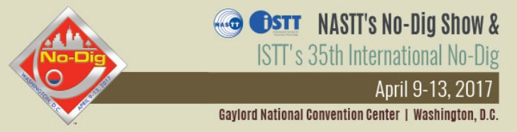 NASTT's No-Dig Show & ISTT's International No-Dig Show will be held together in 2017