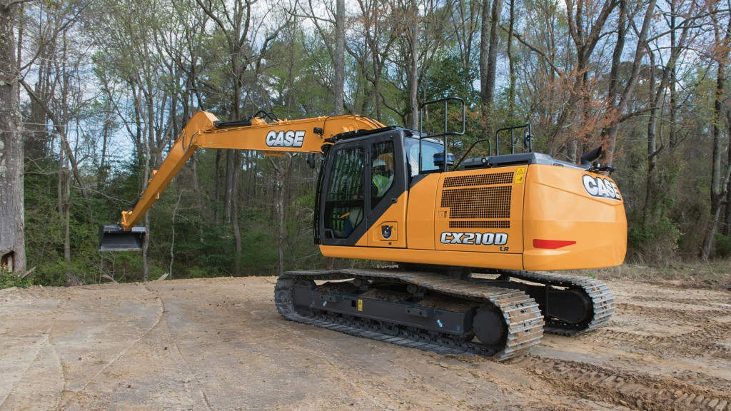 CASE D Series Long Reach excavators add increased digging capabilities