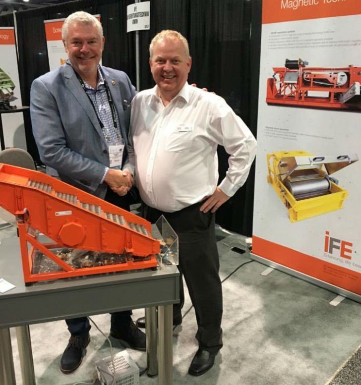 Roland Zimmer (CEO Zimmer America Recycling Solutions) and  Helmut Troebinger (Head of Project Mngmt, Sales, Marketing) at WasteExpo 2016