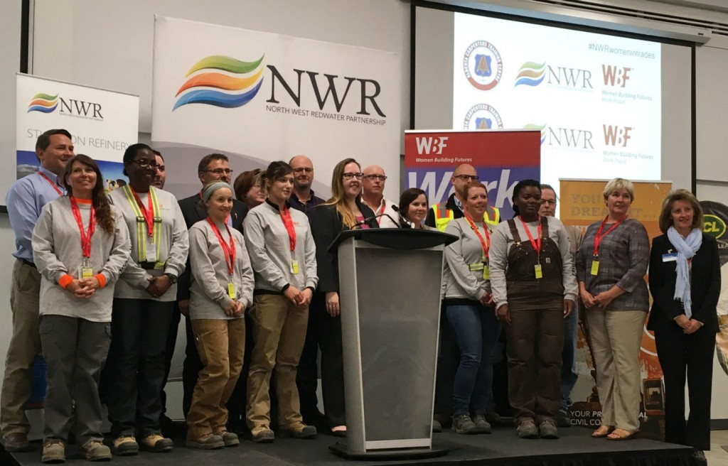 A second class of graduates from Women Building Futures' (WBF) began work at the Sturgeon Refinery.