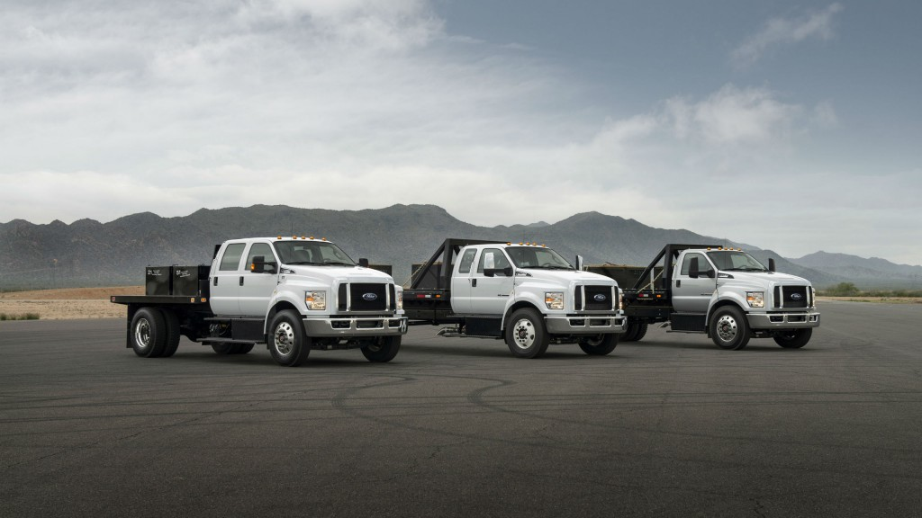All-new F-650 and F-750 trucks are available with the buyer's choice of Ford-built segment-exclusive gasoline engine or diesel engine.